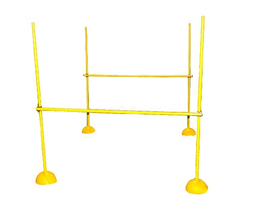 Workoutz Agility Pole Hurdle Training Set for Lacrosse Indoor Outdoor Speed Soccer Football Equipment by Workoutz