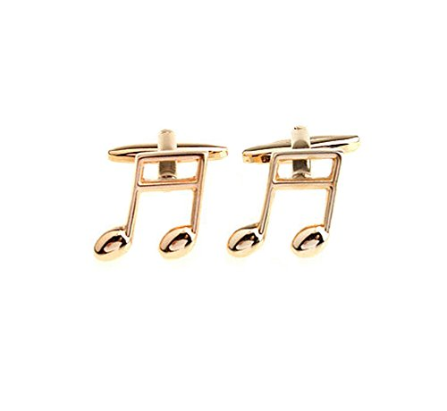 nks Golden Music Character Cuff Link Delicate Cuff-link for Wedding ()