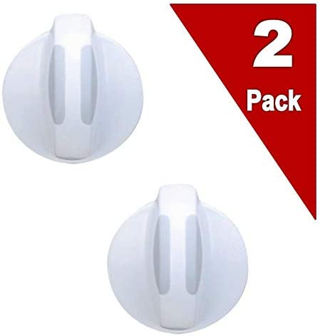 (2 Pack) Exp134844413 Washer/Dryer Selector Knob Replaces 134844413, 134034913, Ap4338959, Ps233088