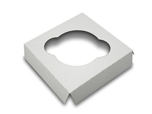 W PACKAGING WP4CI14C 4x4 White/White Cupcake Insert with 1 Cavity for Holding Regular Cupcakes in Cake Box (Pack of 200)