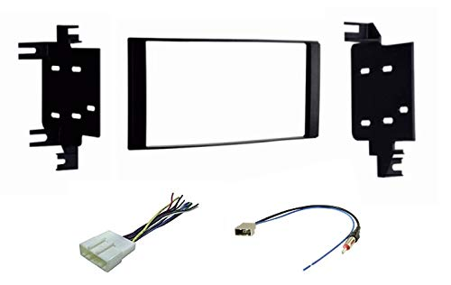 Car Stereo Install Dash Kit, Wire Harness, and Antenna Adapter for Installing a Double Din Aftermarket Radio for Some 2013-2018 Nissan Juke/NV200/Chevy City Express- Compatible Vehicles Listed Below