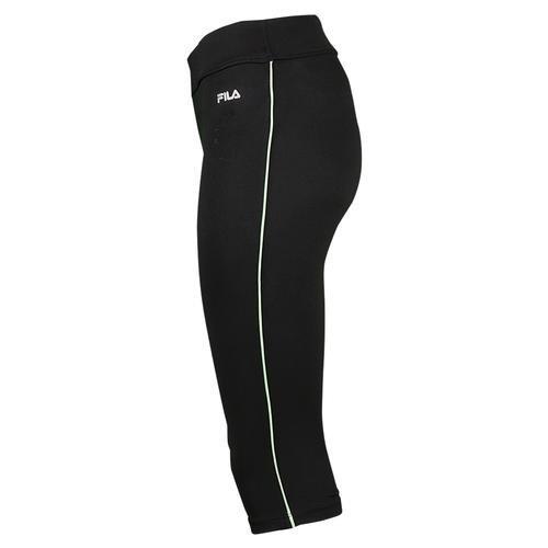 Fila Capri Tights - Fila Women's Side Piped Tight Capri Pants, Black, Violet Blue, S