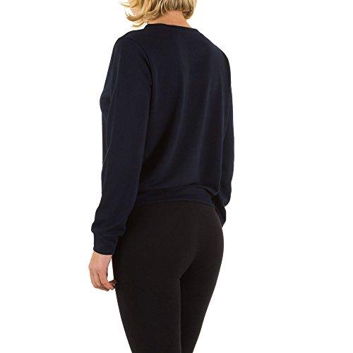 Elastisches Sweatshirt Für Damen , Dunkelblau In Gr. M bei Ital-Design