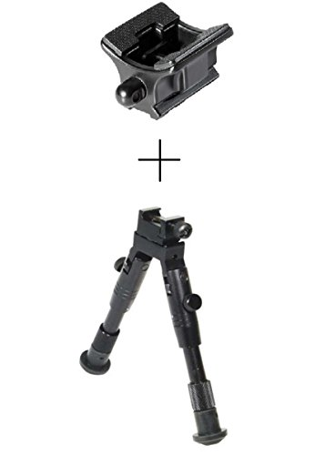 Ultimate Arms Gear Sling Swivel Stud Adapter To Weaver Picatinny & Stud Attaches Grip Light Laser Rail Mount QS Quick Shoe System + Bipod AR15, AR-15, M4, M-4, M16, M-16 .223 5.56 556 .308 (Swivel Side Sling M4)