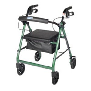 "Drive Medical Aluminum Rollator, 6"" Casters (Green) -  BMM-R726"