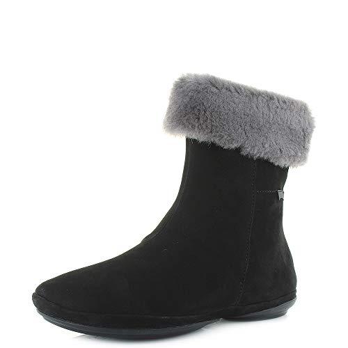 Camper Womens Right Nina Lara Black Soft Leather Fur Boots Size