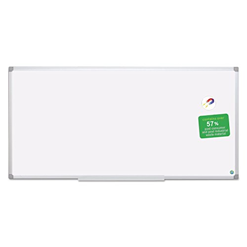 MasterVision CR1520790 Earth Dry Erase Board, White/Silver, 48 x 96 by Bi-Silque Visual Communication Products Inc