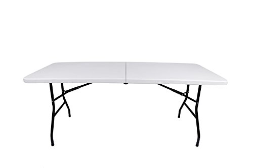 Vitale Outdoor Folding Table Square Furniture Portable Picnic Table White (White)