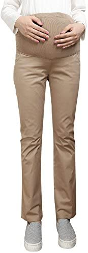 Foucome Women's Maternity Pants Work Office Wear Casual Maternity Trousers Over The B