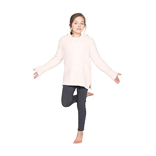 Price comparison product image Barefoot Dreams The Cozychic Youth Baja Hoodie, Color:Pink, Size S, 6T-8T