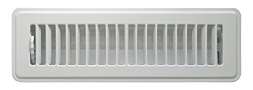 Louvered Register - Accord ABFRWH210 Floor Register with Louvered Design, 2-Inch x 10-Inch(Duct Opening Measurements), White