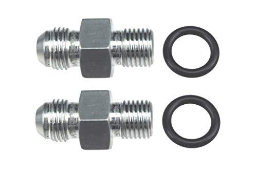 """ICT Billet - Transmission Adapter Fittings Front and Rear -6AN Flare to 1/4"""" NPSM TH350 TH400 4L60E 700R4 200-4R TR6060 AOD 4R100 4R70W C5 Aluminum 551114"""