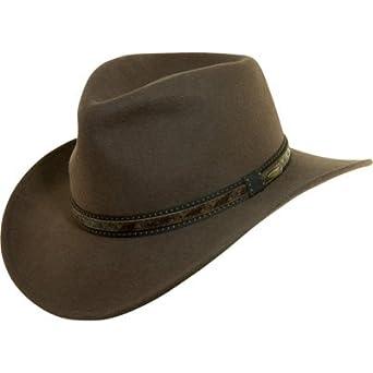 Dorfman Pacific Wool Felt Outback Hat - Khaki 3fd7b78f440