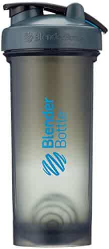 BlenderBottlePro45Extra Large Shaker Bottle, Grey/Blue, 45-Ounce