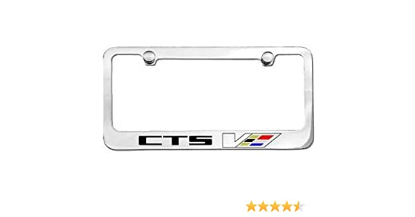 Cadillac CTS V Chrome Brass License Plate Frame