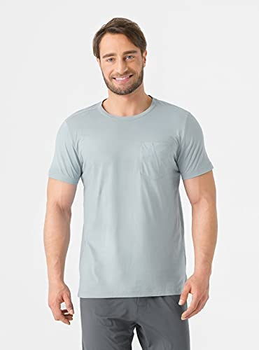 DAVID ARCHY Men's 2 Pack Soft Cotton Short-Sleeve T-Shirt    Left chest pocketDesigned for Comfort: The T-shirt is lightweight and breathable. Premium cotton features a silky touch for everyday comfort.For Active Lifestyle: Stretchy fabric ensures a perfect fit which allows for great mobility.Improvement on Durability: A new spinning of straight-reverse twist ensures softness and durability which will last for longer.Ideal Gift for Men: The tee shirt is comfy and suitable for all kinds of shapes. It's a ideal birthday, anniversary and holiday gift to your family members or friends.