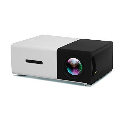(PYXZQW LED Projector Salange YG300 600 lumens 3.5mm Audio 320x240 Pixels YG-300 HDMI USB Mini Projector Home Player,B )