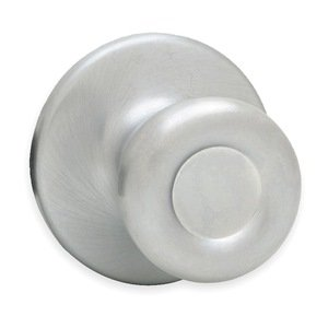 Passage Knob Lockset, Satin Chrome Finish, Light Duty 200T 26D RCAL RCS GR