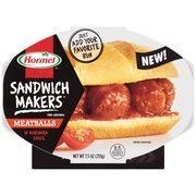 Hormel Compleats Microwaveable Sandwich Makers Meatballs in Marinara Sauce (Pack of 6)