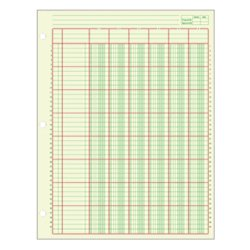 Green Columnar Sheets Single (Adams(R) Analysis Pad, 8 1/2in. x 11in., 100 Pages (50 Sheets), 6 Columns, Green)