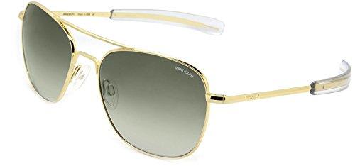 Randolph Aviator Sunglasses 23K Gold / Bayonet / Green Gradient Nylon AR - X Sunglasses 23