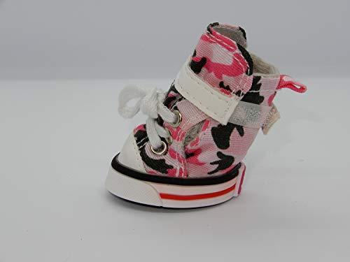 (comPAWdre Canvas Hi-Tops Dog Shoes - Pink Camo Size L - Set of Four)