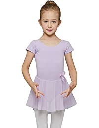 Girls' Skirted Short Sleeve Leotard
