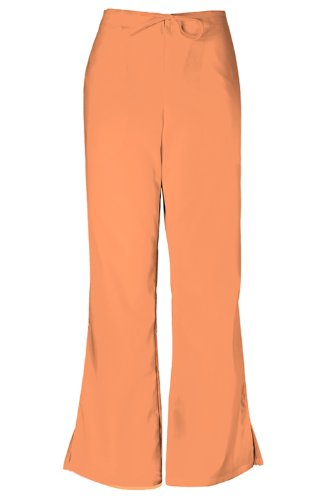 Cherokee Workwear Women's Natural Rise Flare Leg Scrub Pants XX-Large Petite Orange Sorbet
