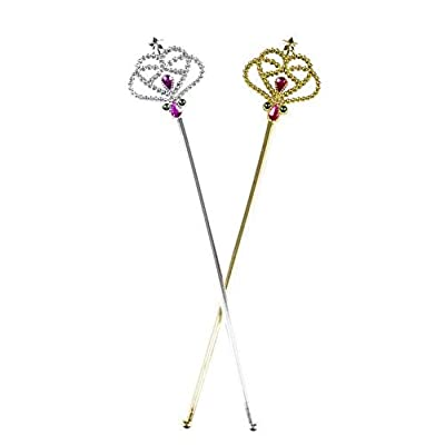 Costume Fairy Princess Queen Magic Wand Scepter - 12 Pack, color may vary: Toys & Games