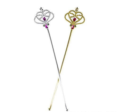 Rhode Island Novelty Costume Fairy Princess Queen Gold or Silver Magic Wand Scepter | Color May Vary -
