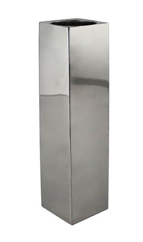 Kaheku moderne Kerzenständer Karree, silber Edelstahl (8 x 8 x H60 cm)