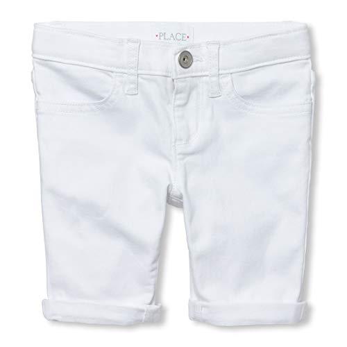 The Children's Place Big Girls' Skimmer Shorts, White, 4