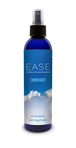 Activation Products – EASE Magnesium Spray – Pure Magnesium for Joint and Muscle Pain, Leg Cramp Relief – Sleep Supplement for Restless Leg Syndrome Relief - Includes eBook, 8 ounces