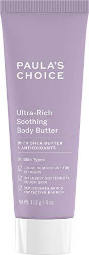 (Paula's Choice CLINICAL Ultra-Rich Soothing Body Butter | Vitamin C & E, Shea Butter & Squalane | Sensitive, Dry Skin | 4 Ounce)