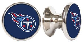 Tennessee Titans NFL Stainless Steel Cabinet Knobs / Drawer Pulls (2-pack) (Pulls Drawer Tennessee)