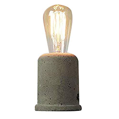 IJ INJUICY Vintage Cement Concrete Table Lamp-Loft Retro Style Desk Lamps for Living Room Décor