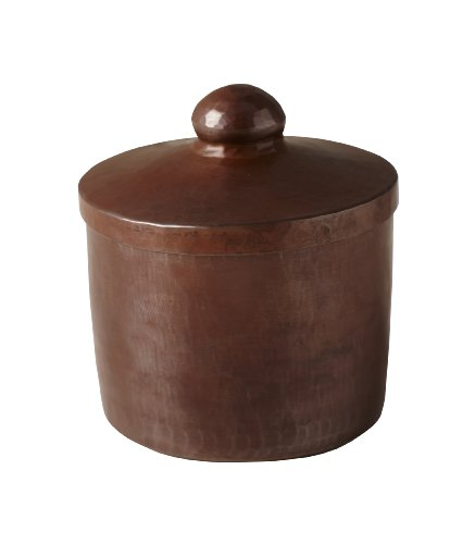 Native Trails Cotton Ball and Swab Holder, Antique Copper Finish by Native Trails