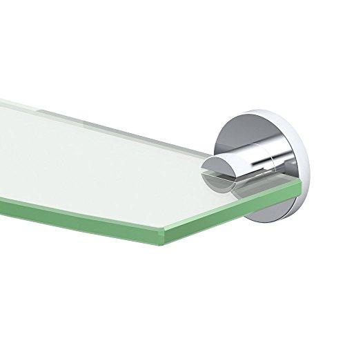 Gatco 4686 Channel Glass Shelf, Chrome