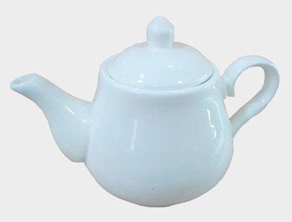 - Super White Porcelain Tea Pot with Handle (28 oz) Y7042