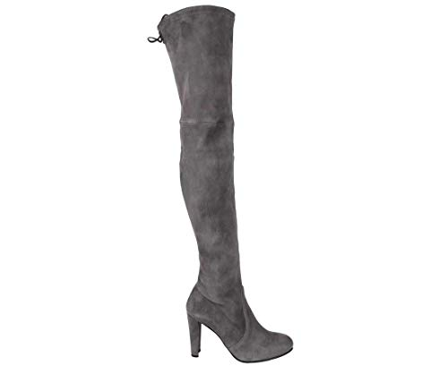 Stuart Weitzman Highland Slate Suede Over-The-Knee Boot (10 M US)