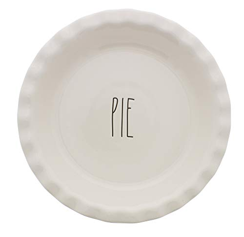 - Rae Dunn by Magenta PIE Scalloped LL Pie Plate Dish