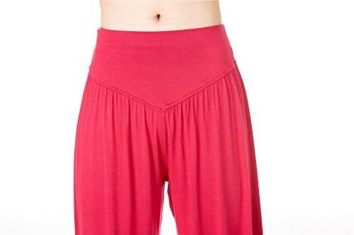 Yoga Spandex per donna e Pilates Leggings Modal Purple morbido Loose Fit SIMYJOY Lunghi Red o da Pantaloni gwqn07f