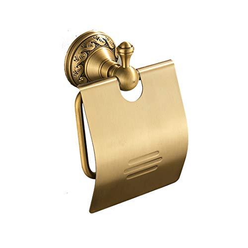 Lufskty Antique Brass Bathroom Accessories Set Shelf Towel Bar Cup Holders Hairdryer Rack Tissue Holder Roll Paper Holder Soap Dish ABS-010-1