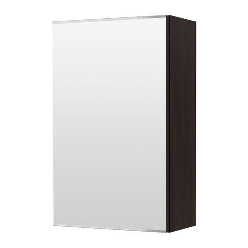 Ikea Mirror cabinet with 1 door, black-brown black-brown 15 3/4x8 1/4x25 1/4 -