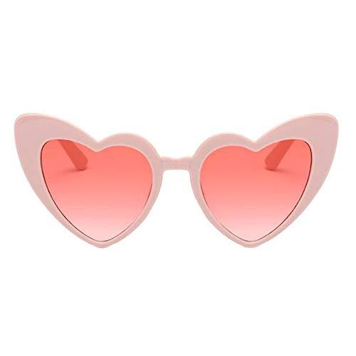 Amor Proteccion Conformado corazon Ojo sol Estilo Clásico Gafas UV gato Hzjundasi Polarizado Gafas de Eyewear de Rosado2 Retro Salirse Estiloso los ojos fFgYWqw