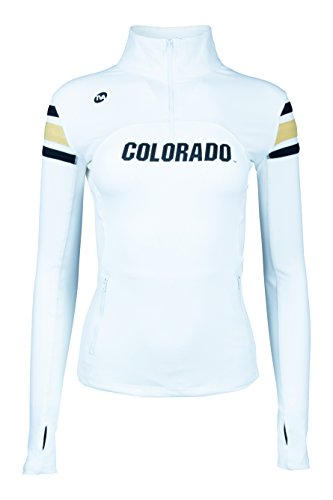 1/4 Warm Up Zip Jacket - Twin Vision Activewear Colorado Buffaloes 1/4 Zip Yoga Warmup Track Jacket White (Large)