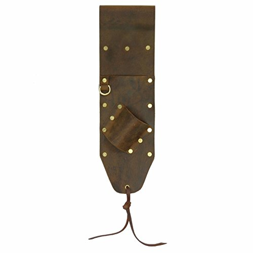 - Brown Leather Sheath for PinPointer and Digging Tool Right Sided