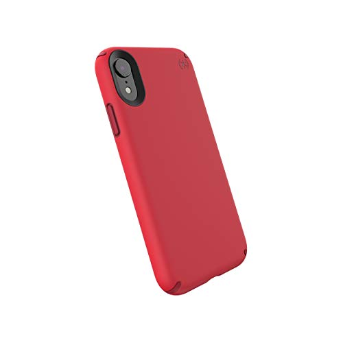 Red Rubber Cell Phone - Speck Products Presidio Pro iPhone XR Case, Heartrate Red/Vermillion Red
