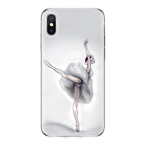 Maxlight Sexy Ballet Dancing Girls Ballerina Ballet Case for iPhone X Xs Max XR 6s 7 8 Plus (G, for iPhone 7plus 8plus) (4 Case Iphone Vw)