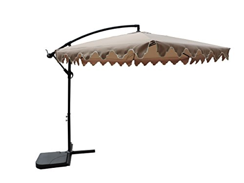 Aclumsy 10ft Patio Offset Cantilever Umbrella-Patio with Crank Lift - Outdoor Umbrellas